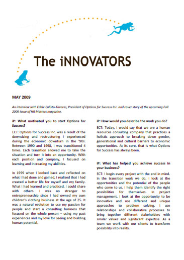The iNNOVATORS May 2009