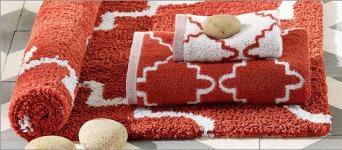 Towels & Mat in Rust