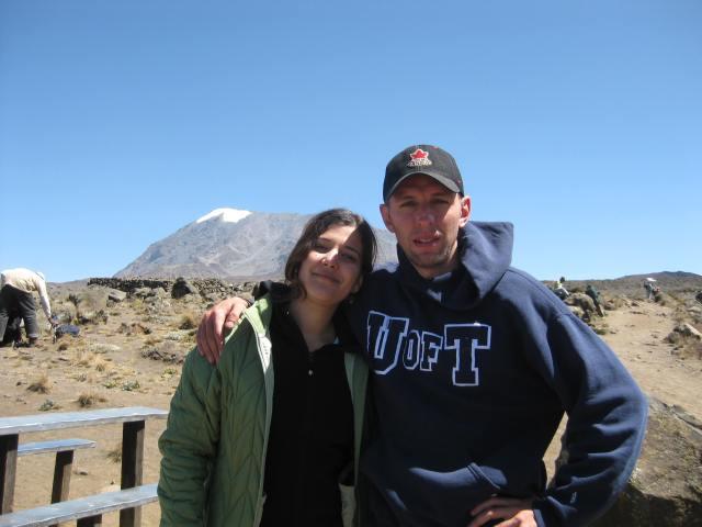 Mike & Kristle enroute to Kili