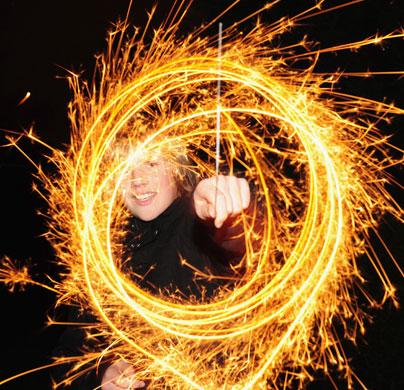 Guy Fawkes Night Light Circles in Brighton