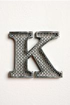 Urban Outfitters Acid Etch Letter K