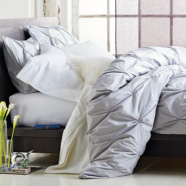 West Elm Pin-Tuck Duvet Cover