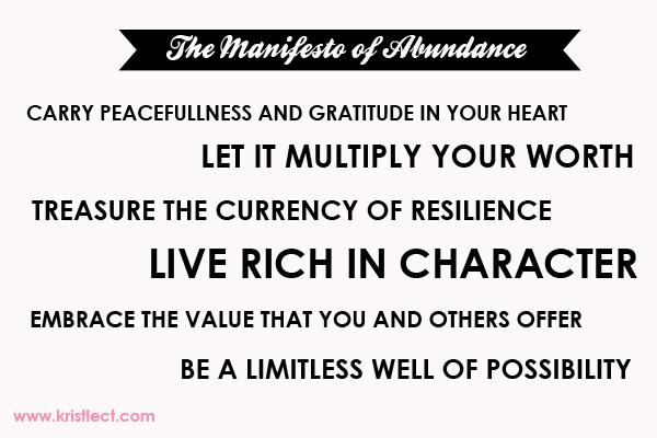 Manifesto of Abundance